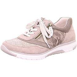 Gabor Comfort Damenschuhe 46.973.99 Damen Schnürhalbschuhe Sneaker Leder (Wildleder) Grau (shark/grau/silber), EU 44