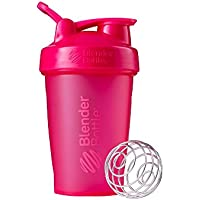 BlenderBottle Classic Loop - Botella Mezcladora de Batidos de proteínas con batidor Blenderball, Rosa (Pink), 590ml