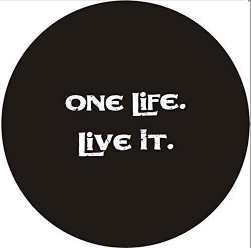 bestmay 13inch ersatzreifen für ein leben leben, das logo schwere denim - vinyl - reifen auf