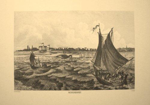 NORDERNEY - Reproduktion eines Stahlstichs vom Beginn des 19. Jahrhunderts