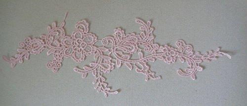 Mechero artesanal color rosa floral encaje aplique vestido de costura encendedor rosa diseño de encaje aprox. 33,5 cm x 11 cm por pieza FREE UK PP envío rápido