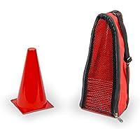 Vinex 20 Conos de señalización – con bolsa de transporte – rojo