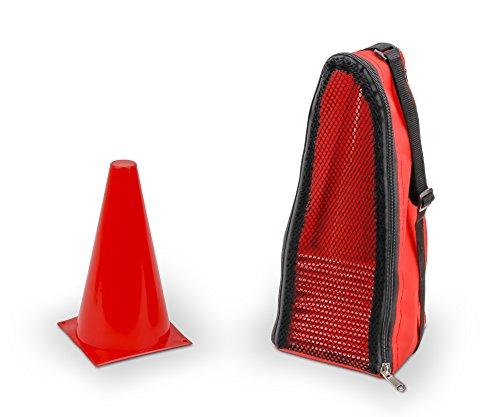 20 Markierungshütchen mit Tragetasche, rot