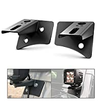 Nilight 2PCS Jeep JK A-Pillar Windshield Hinge Mounting Brackets for Offroad LED Fog Light Halogen Work Light for 2007-2017 Jeep Wrangler JK,2 years Warranty