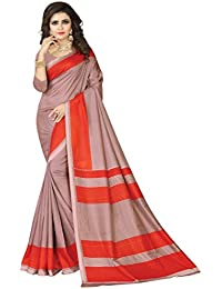 E-VASTRAM Womens Crepe Printed Art Silk Saree(V3124_Red)