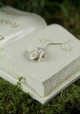 """Grabbuch mit Engel und Rose """"Du fehlst uns"""" von friedhofskerze.de bei Du und dein Garten"""