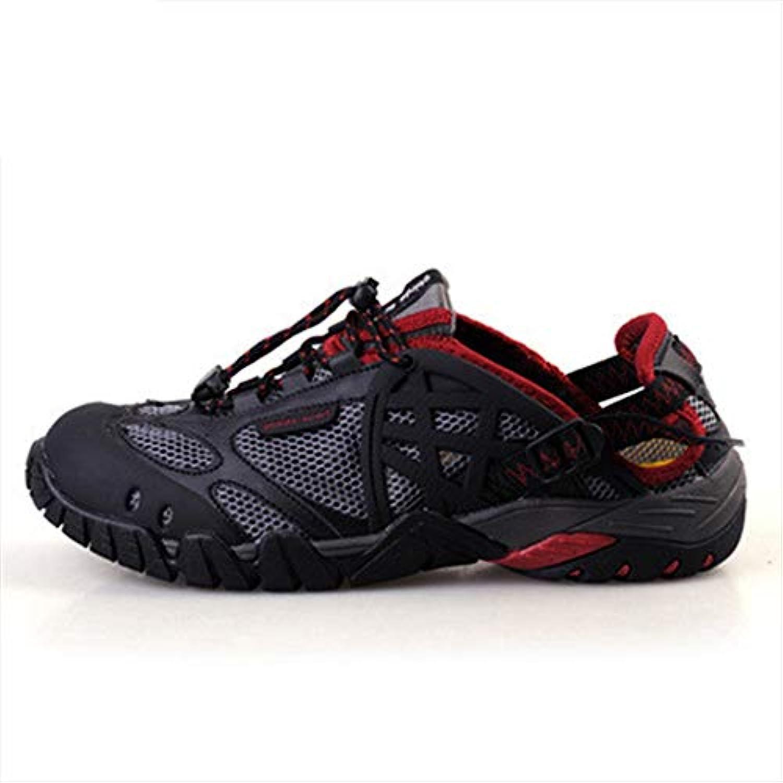 WHYSHY Peso Ligero Zapatos De Senderismo Vadeando Transpirables Casual Malla Shock Absorption Excursionismo,Red,43  -