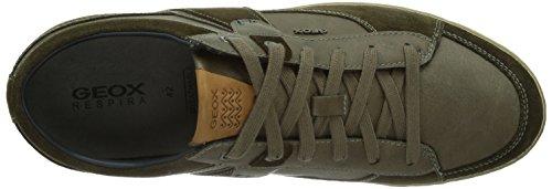 Geox  U BOX, Baskets pour homme Marron - Braun (MILITARY/OLIVEC3074)