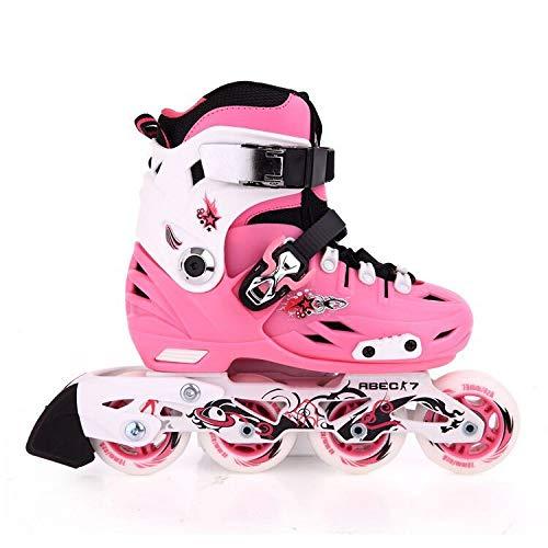 Skate Handwerker Klassische Eisschnelllauf Flache Schuhe S (28-31) Rosa Flache Schuhe -