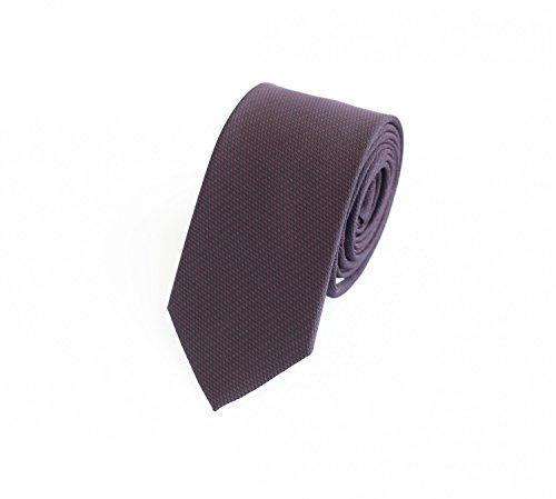 Edle Fabio Farini Krawatte, 6 cm in verschiedenen Farben, extravagantes Lila-Rot Karomuster