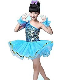 80cfe8bbb MATISSA Trajes de Baile de Lentejuelas para Niños Vestidos de Ballet Faldas  Ropa de Baile Niños