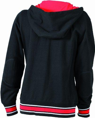 James nicholson sweat-shirt de base-ball &à capuche pour femme Noir (black/red/white)