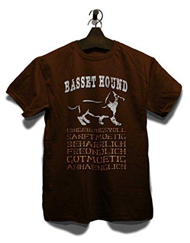 Hund Basset Hound T-Shirt braun-brown 2XL