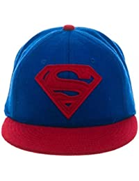 Superman - Casquette Baseball avec Logo - Rouge & Bleu - Ajustable