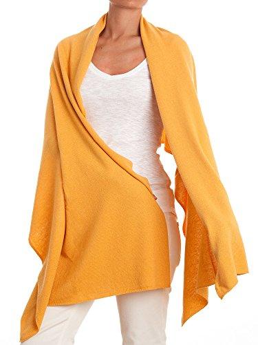 DALLE PIANE CASHMERE Stola aus Kaschmir-Gemisch - für Damen, Farbe: Gelb, Einheitsgröße