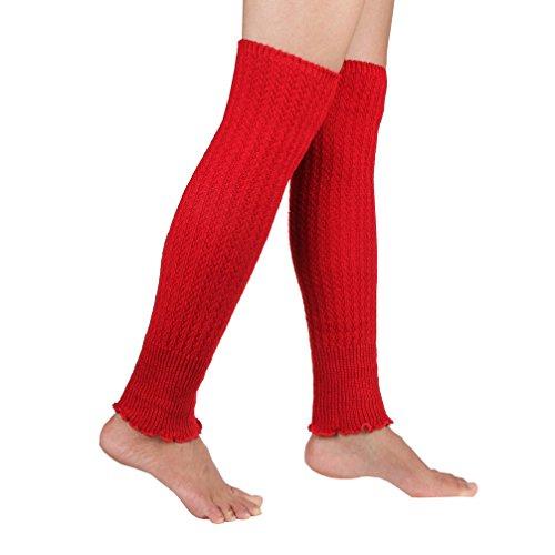Kabel Knit geschnittenen Classic Stiefel Schaft Style Soft Acryl Beinwärmer Gr. Large, rot