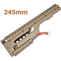 ABS Plastico MP5K / PDW, MOD5K Rail para Airsoft Marui, JG, Classic Army, Galaxy AEG (Tan)