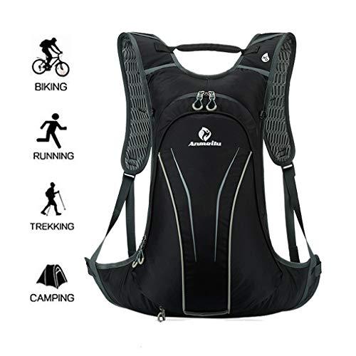 WUZHENG 20L Fahrradrucksack-Wasserdichter Fahrradrucksack, Leichter Rucksack zum Radfahren, Klettern, Wandern, Laufen mit Regenschutz Helmüberzug,Gray -