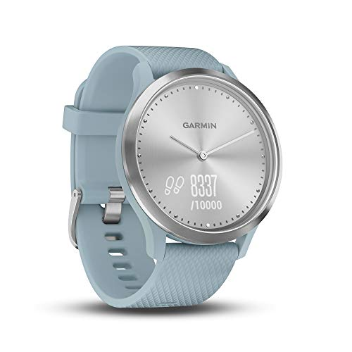 Garmin vivomove HR Hybrid Smart Watch (Small/Medium) - Silver with Seafoam Band
