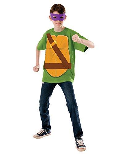 Donatello-Shirt-Set, Motiv: Teenage Mutant Ninja Turtles-Outfit, groß, für Kinder 8-10 Jahre 4'20.32 cm Höhe - 5'0.00 cm (Ninja Turtle-outfit Kinder)