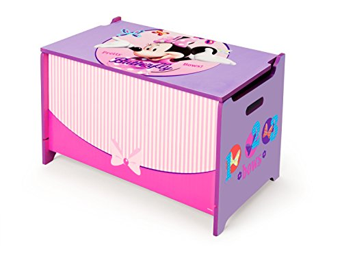 Delta Kids - Caja de juguetes de madera (62,2 x 39,3 x 33,7 cm), MDM, Minnie Mouse, 1 unidad