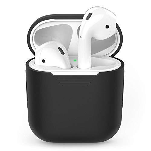 Leegoal Custodia per Airpods, Portatile Antiurto Cover Protettiva Cover per Apple Airpods Auricolari Nero