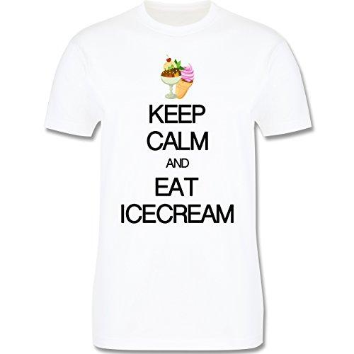 Keep calm - Keep calm and eat icecream - Herren Premium T-Shirt Weiß