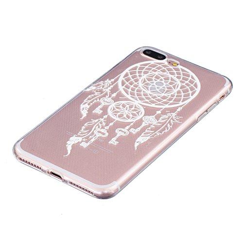 Cozy Hut ® Apple iPhone 7 PLUS Hülle | Premium iPhone 7 PLUS Cover | Tasche | Crystal – Clear | Etui | Silikon | Case | Schutz-Hülle | Bumper | transparente Weicheplastik Rückschale | flexible TPU Bum Key Campanula