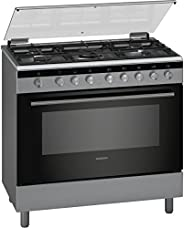Siemens 90 X 60 Cm 5 Burners Gas Cooker With Cooling Fan, Silver - HG2I1TQ50M