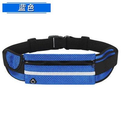 KANG@ Sport Taille Pack Multifunktions Running Männer und Frauen Outdoor Handy Tasche Anti-Diebstahl intime Stealth wasserdicht Beutel Atmungsaktiv, Blau