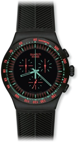 Swatch YOB105 - Orologio da polso da uomo, cinturino in plastica colore nero
