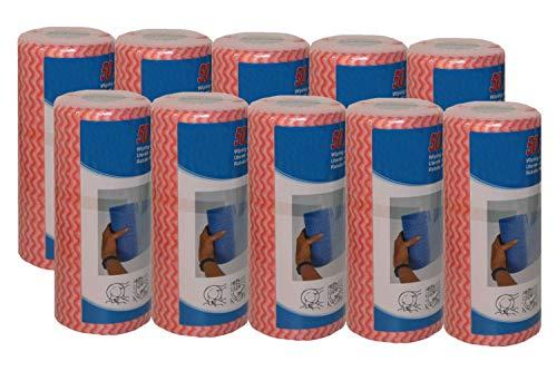 10 mal Wischtuch rot auf Rolle mit je 50 Wischtücher = 500 Putztücher