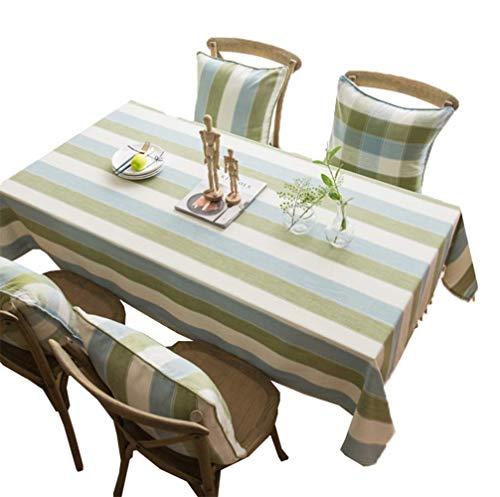 Zimmer Essentials Ball (FOTEE Twill Tischdecken - Tischdecke Baumwolle/Simple Style/Casual Dining Essentials/Mehrzweck-, 100% Baumwolle Tischdecke rechteckig, sortierte Größe,Green_140x260cm)