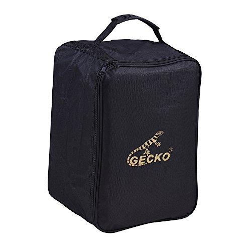 Ammoon Box für Kinder Cajon Tasche Trommel-Rucksack Rucksack 600d 5mm Polsterung aus Baumwolle mit Tragegriff, Schulterriemen Gecko M03