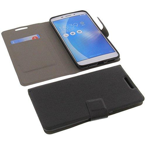 foto-kontor Tasche für ASUS ZenFone 3 Laser ZC551KL Book Style Ultra-dünn Schutz Hülle Buch Schwarz
