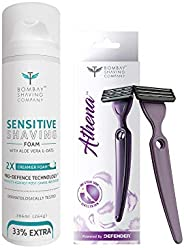 Bombay Shaving Company Athena - Irritation Free Razor for Women & Sensitive Foam -266ml C