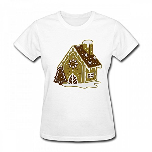 qingdaodeyangguo T Shirt For Women - Design A Gingerbread House Gingerbread and Frosting Shirt White