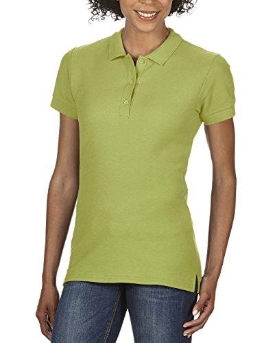 Gildan Damen Poloshirt Premium Cotton Double Piqué Polo/85800L, Einfarbig Grün (Kiwi 186)