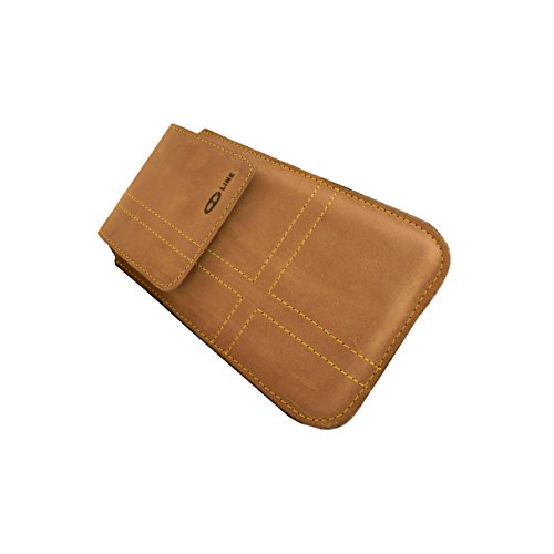 ORLINE Holster Custodia Verticale per cellulari Apple iPhone 6S 4,7pollici tasche e passante per cintura Slim Design Case Custodia in vera pelle Custodia von ORLINE in nubuck marrone c