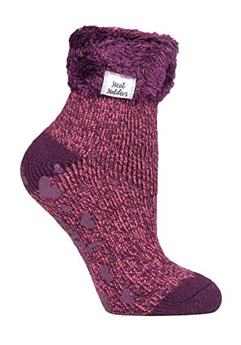 HEAT HOLDERS - 1 Paar Bettsocken Damen Stoppersocken abs antirutsch kuschelsocken socken in 8 farbig 37-42 eur (HHL12)