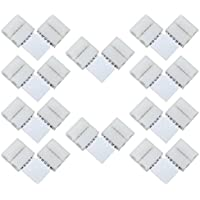 Liwinting 10pcs 5 Pin L Shape RGBW LED Connector 5 Conductor Splitter Right Angle Corner Connector for 12mm Wide SMD 5050 RGBW LED Strip Lights LED Ribbon Lights LED Strip to Strip Adapter, White