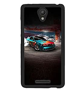 Fuson Premium Car On Track Metal Printed with Hard Plastic Back Case Cover for Xiaomi Redmi 3S