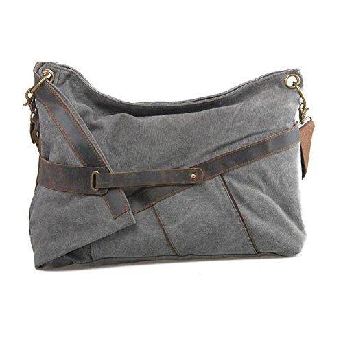 Europa und die Vereinigten Staaten Männer und Frauen große Paket einzelne Leinwand Tasche Freizeit Mode-Paket dark gray
