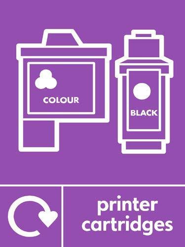 Aufkleber für Druckerpatronen, Recyclingschild, lustige Hinweise, Gefahr, Warnaufkleber, für Propety Vinyl, selbstklebend, 30 x 40 cm -