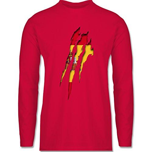 Länder - Spanien Krallenspuren - Longsleeve / langärmeliges T-Shirt für Herren Rot