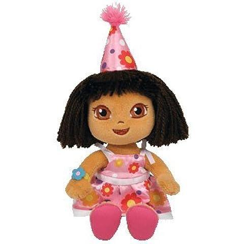 Ty peluche - Beanie Babies (Dora la Exploradora) de cumpleaños de Dora - 20 cm.(40827)