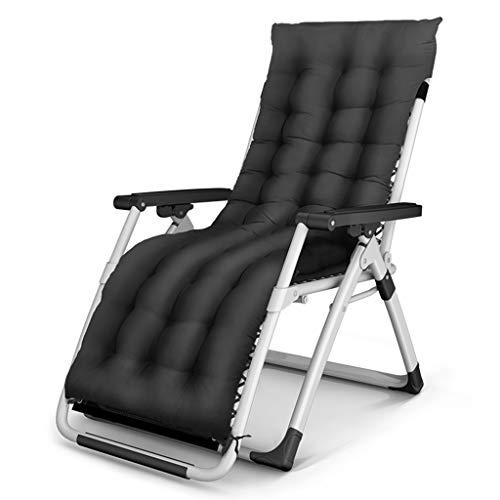 Fauteuil de terrasse de repos extérieur pour chaises de patio inclinable pliant réglable en textile résistant aux intempéries pour la piscine de véranda (Couleur : Chair+cushion d)