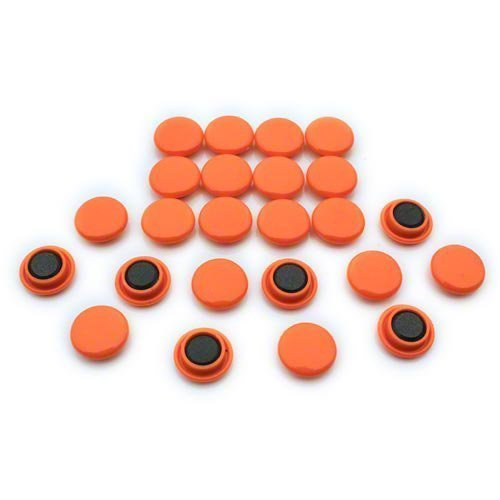 Magnet Expert® Petit planification/avis planche aimants, Orange, 1 pack de 24