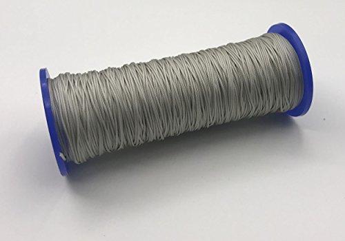 10 Meter Schnur für Plissees 0,8 mm - hell-grau - Plisseeschnur - Spannschnur für Plissee - ps FASTFIX