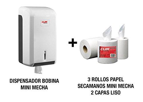 Dispensador papel secamanos 3 rollos papel secamanos
